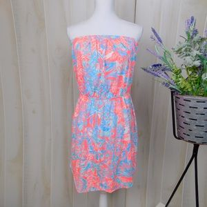 Lily Pulitzer Blue & Pink Patterned Dress